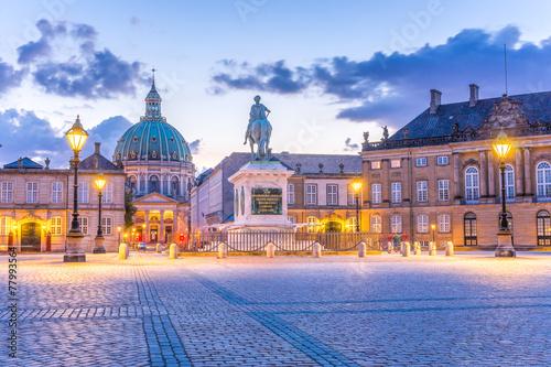 Staande foto Scandinavië Kopenhagen Marmorkirche, Palast,