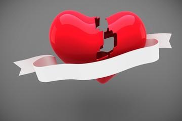 Composite image of broken heart