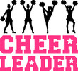Cheerleader Silhouettes - 77995161