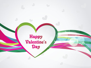 Abstract Vector Heart for Valentines Day Background.