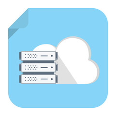 backup cloud computer icon