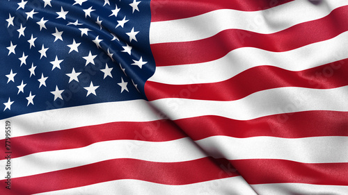 Leinwanddruck Bild Illustration of the USA national flag