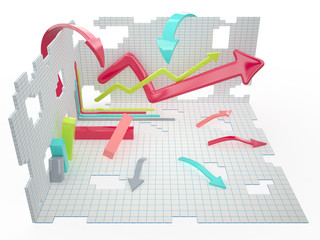Infographic conception, 3D