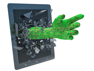 hand data and tablet pc