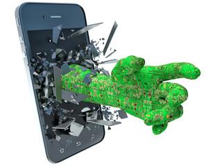 hand data and phone