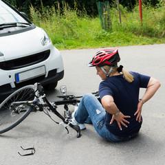 rückenschmerzen nach einem fahrradunfall