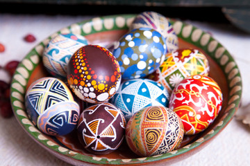 Mix of eggs with the traditional designs