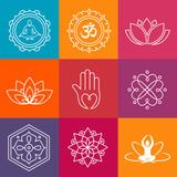 Fototapety Yoga Icons