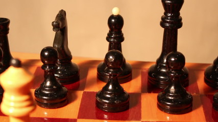 chess pieces on a chess board .