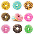 Donuts isolated on white background - 77997534
