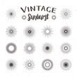 Vintage sunburst. Hipster style - 77997754