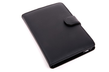 Cover of an e-reader with e-reader in it