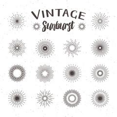 Vintage sunburst. Hipster style
