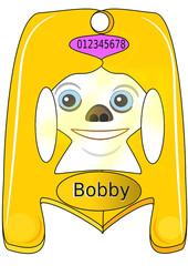 Placa de identificación canina