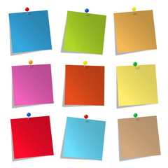 Notepads, colorful