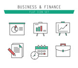 Marketing Strategy Icons. Simple glyph style icons. business and poster