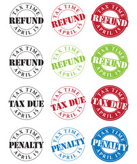Tax Time Stamps