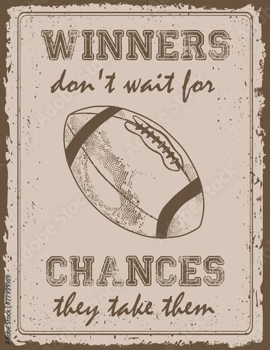 Vintage sport poster