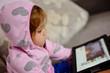girl using tablet pc