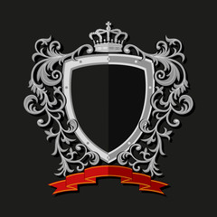 Coat of arms in modern flat style