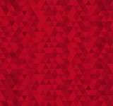 Fototapety Red triangle tiles seamless pattern, vector background.