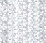 White triangle tiles seamless pattern, vector background. - 77999938