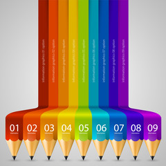 Colour Abstract pencil Background. Vector