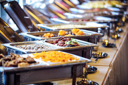 Staande foto Buffet, Bar buffett tisch