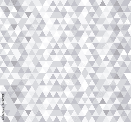 White triangle tiles seamless pattern, vector background. poster