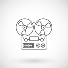 Reel tape recorder outline icon