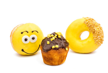 glazed donuts and muffins