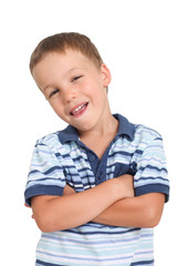 little boy with attitude