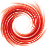 Fototapeta Vector swirling red backdrop. Juice of red fruits