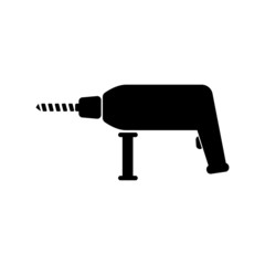The drill icon. Perforator symbol. Flat