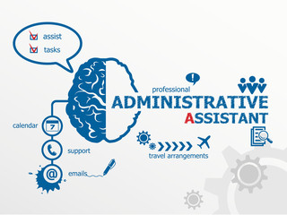 Administrative assistant concept.