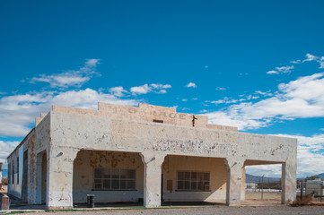 old abandoned gas station in Death valley, California