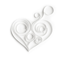 Quilling paper hearts. Background with hearts for Valentine's da