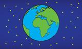 kula ziemska, planeta ziemska w kosmosie