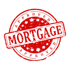 Damaged red red stamp with the word - mortgage - vector svg