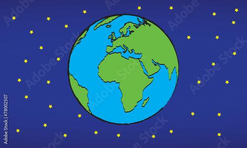 kula ziemska, planeta ziemska w kosmosie - 78002507