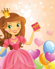 Happy Birthday, Princess, greeting card.