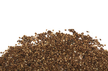 Buckwheat. Background. Photo.