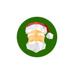 Illustration of santa claus origami symbol