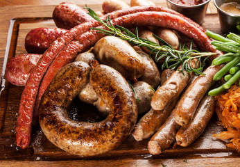 Tasty homemade sausages.