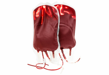 bag of blood and plasma isolated