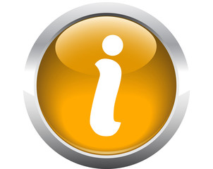 Information element button for web. Vector.