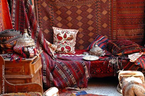 Tuinposter Turkey Turkish bazaar, carpet market