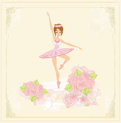 Beautiful ballerina - abstract card