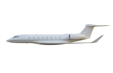 Side view of private jet airplane