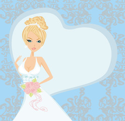 beautiful bride on an abstract background